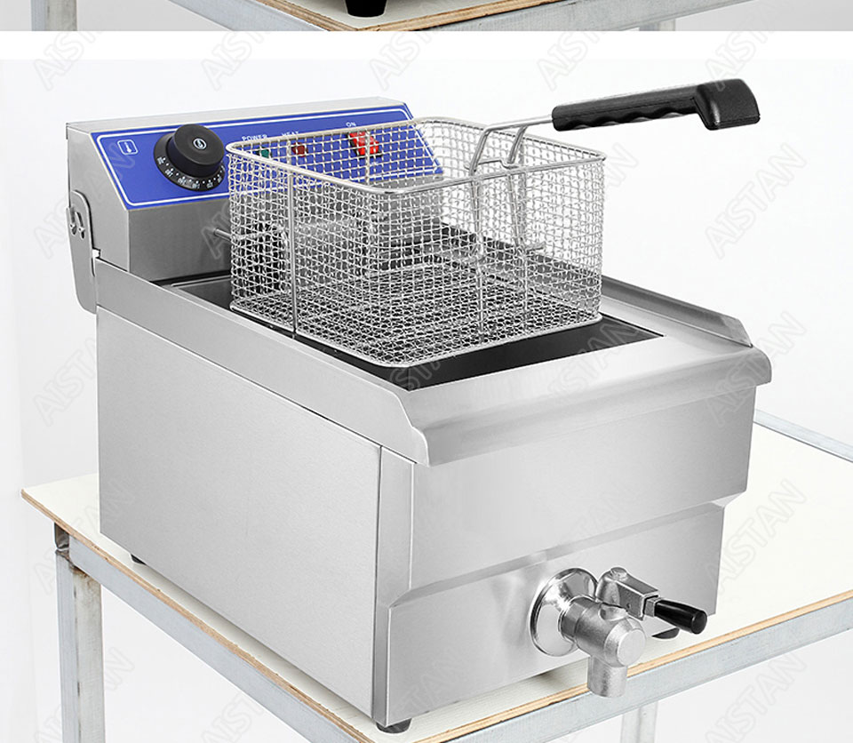 EF101V stainless steel electric deep fryer fried chicken fried potato chips for kitchen appliance 23