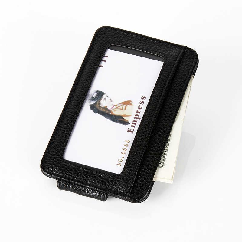 Cuikca nova moda feminina homens carteira clipe de dinheiro ímã clipe de bolso ultrafino braçadeira de cartão de crédito caso mini carteira criativa