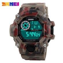 SKMEI Watches Men S-Shock Sports Military Watch Fashion Mens Military Watch Sports Watches Shock Resist Waterproof Dual Strap