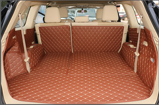 Special trunk mats for Toyota Highlander 7 seats 2018-2014 waterproof boot carpets cargo liner for Highlander 2017,Free shipping