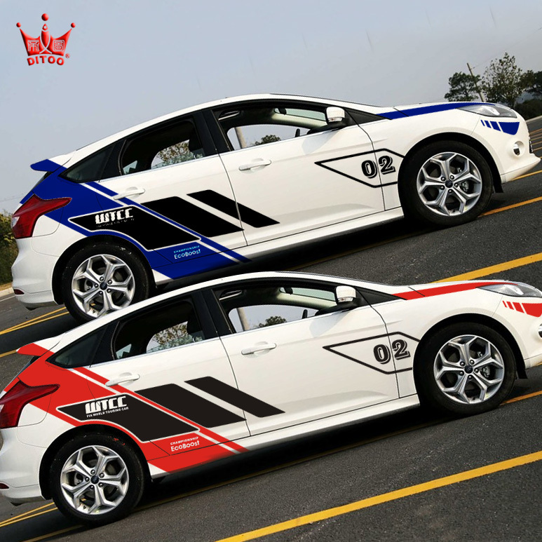 Car styling reflective car sticker wtcc racing whole boy sticker for cruze ford 2 mazda 3 vw polo kia k2 hyundai on aliexpress com alibaba group