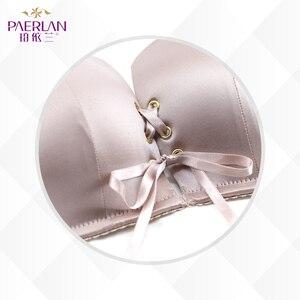 Image 5 - PAERLAN 1/2 szklanki nisko zabudowany mała klatka piersiowa Push Up band brak solidny biustonosz gładka bezszwowa pamięć Lycra fiszbiny seksowna bielizna damska