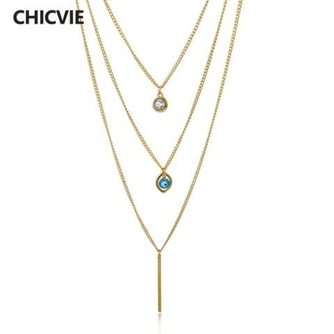 Chicvie винтажные богемные эффектные золотые цепи diy ожерелья