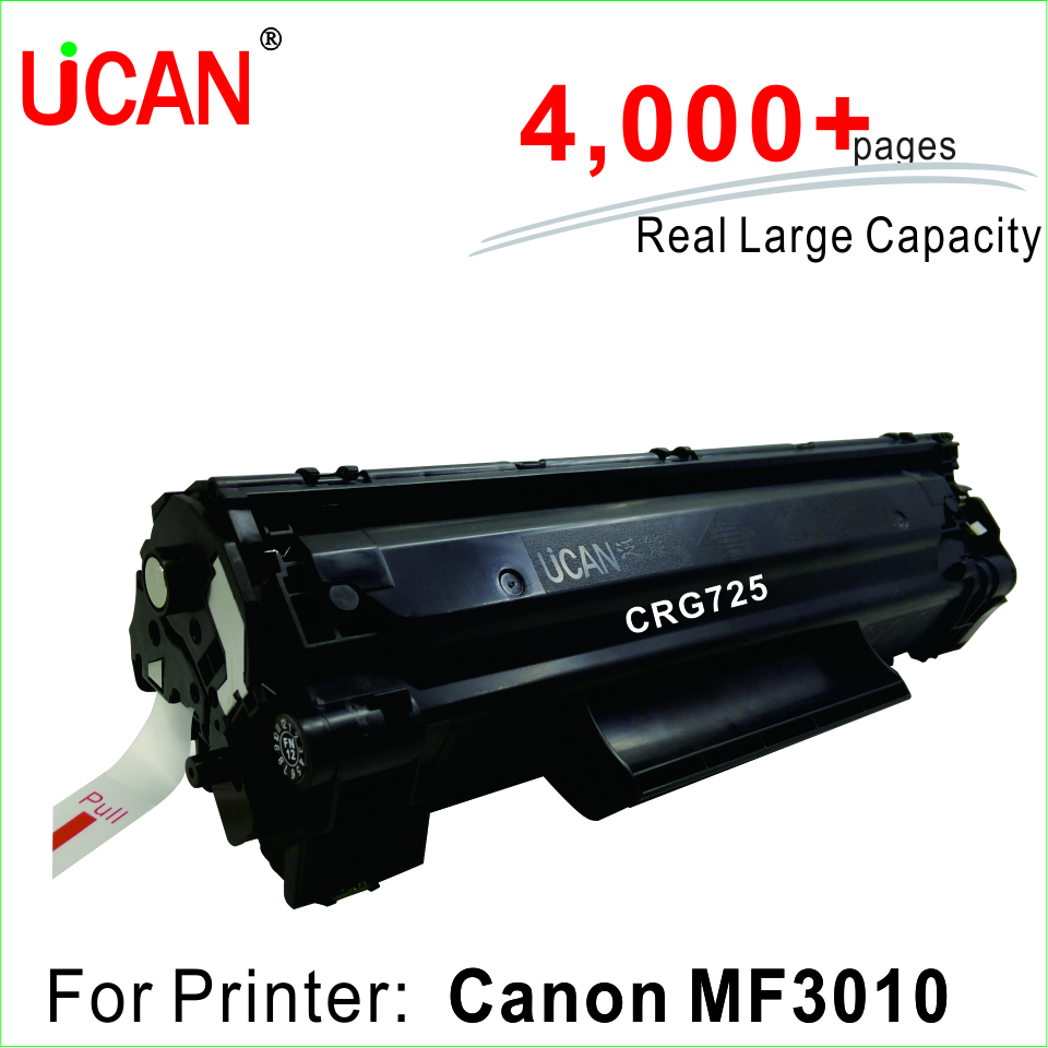 CRG 725 Toner Cartridge for Canon MF3010 printer 4,000+ pages Large Capacity & Refillable for canon d570 printer cartridge 737 337 137 ucan 737ar kit 12 000 pages