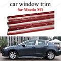 Нержавеющая сталь с центральным столбом  полностью обшивка окна автомобиля  декоративные полосы для M-azda M3 стайлинга автомобиля