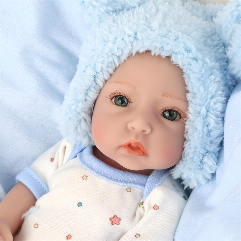 28cm Newborn Reborn Doll Baby Simulation Soft full silicone Dolls Children Kindergarten Lifelike Toys for boy Birthday Gift 55cm doll reborn babies full soft silicon lifelike newborn baby dolls baby reborn simulation toys gift for children partner