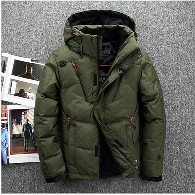 New winter jacket Men's fashion camouflage pattern Long ski Jacket ...