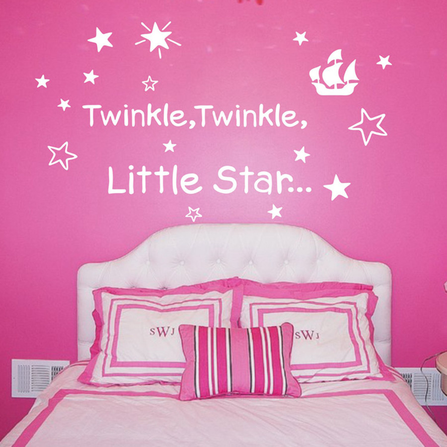 Aliexpress.com : Buy TWINKLE TWINKLE LITTLE STAR Baby Sleeping Quotes  Removable Vinyl Nursery Wall Stickers Free Shipping Baby Nursery Room Decor  From ... Part 50