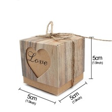 Pudełka dla gości weselnych VINTAGE HEART 10szt