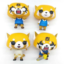 AOSST Aggretsuko Rage /Chainsaw /Date Night reative cartoon figurine Vinyl Action Collectible Model Toy for gift