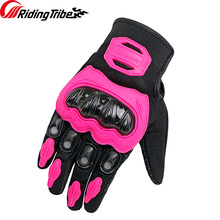 Riding Tribe Motorcycle Gloves Woman's Summer Breathable Moto Riding Protective Non-slip Touch Screen Man's Guantes MCS-21