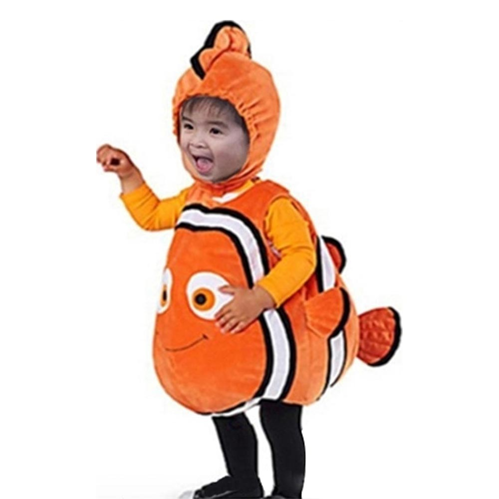 Deluxe Nemo Cosplay Costume Dress Up Fish Clownfish From Pixar Animated Film Finding Nemo Halloween Christmas Cosplay Costume