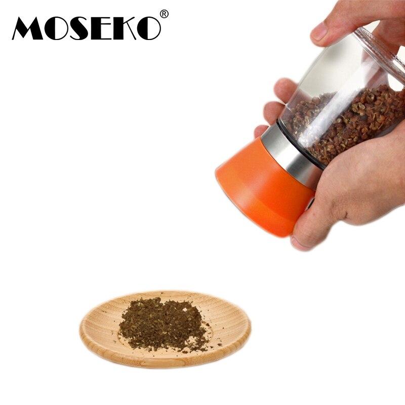 MOSEKO 1PC Molinillo de pimienta Molino de vidrio plástico Sal - Cocina, comedor y bar
