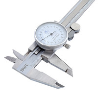 6 0 150mm/0.02 Dial Caliper Shock proof Stainless Steel Vernier Caliper Measurement Gauge Metric Measuring Tool