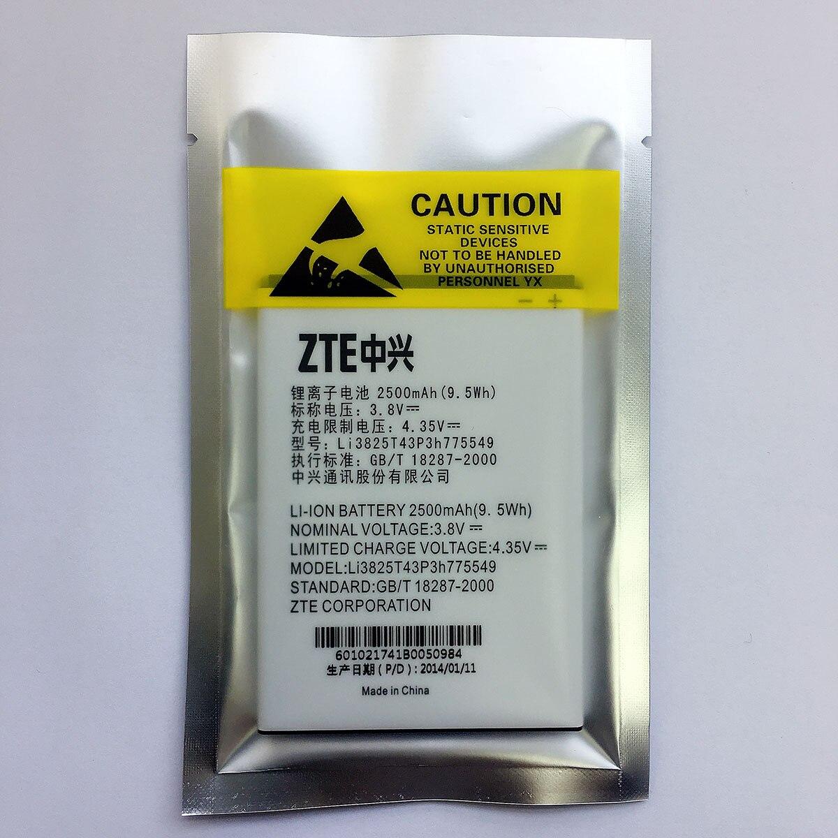 New High Quality Phone Battery Li3825t43p3h775549 For Zte V987 U935 V967s  N919 N980 2500mah 38v 95wh