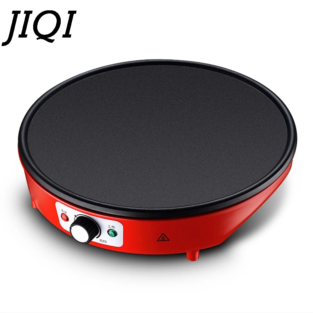 JIQI Multifunctional Non-stick Electric Crepe Maker Pizza Pancake Baking Pan Fried Chicken Griddle Pie Frying Grill Steak Cooker jiqi stainless steel electric crepe maker plate grill crepe grill machine page 4