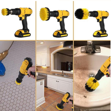 3 Pcs Power Scrub Brush Drill Cleaning For Bathroom Shower Tile Grout Cordless Scrubber Attachment Kit