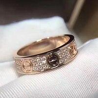 Titanium Steel LOVE Eternal Ring Hot Brand Fashion Jewelry For Women Unisex Ring Wedding Rings Classic