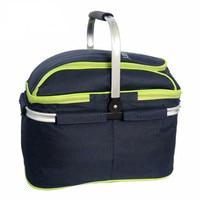 Outdoor Camping Hiking Picnic Bags Portable Folding Large Picnic Bag Food Storage Basket Handbags Lunch Box Keep Warm And Cold