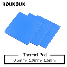 3Pcs 100x100mm thermal pad 0.5mm 1mm 1.5mm thickness Thermal Pads Conductive Silicone Pad For Computer Laptop IC GPU VGA Card