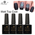Saviland 1pcs Matt Top Coat Gel Lacquer Soak Off Long Lasting Cleaning Transparent Matt Top Coat UV Gel Nail Varnish