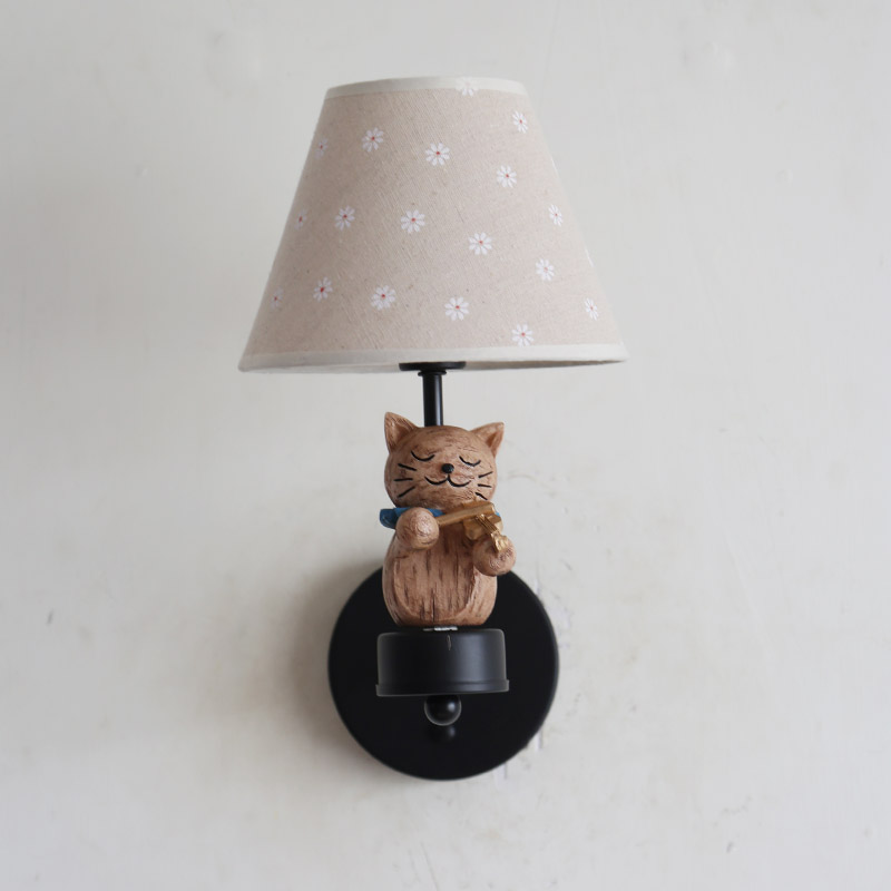 Nordic Children Bedroom Wall Lamps Led Cat Symphony Wall Lights Boy Girl Room Decoration Lamp Christmas Present Birthday Present - 4