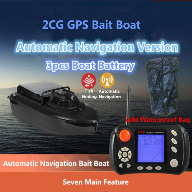 Free Bag GPS Fishing Boat 2CG With 3pcs 20A or 10A Battery GPS Tracking Sonar Fish Finder boat Remote Control RC Bait Boat