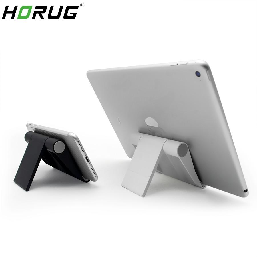 HORUG Portable Universal Tablet Holder For iPad Holder Tablet Stand Mount Adjustable Desk Support Flexible Mobile Phone Stand(China)