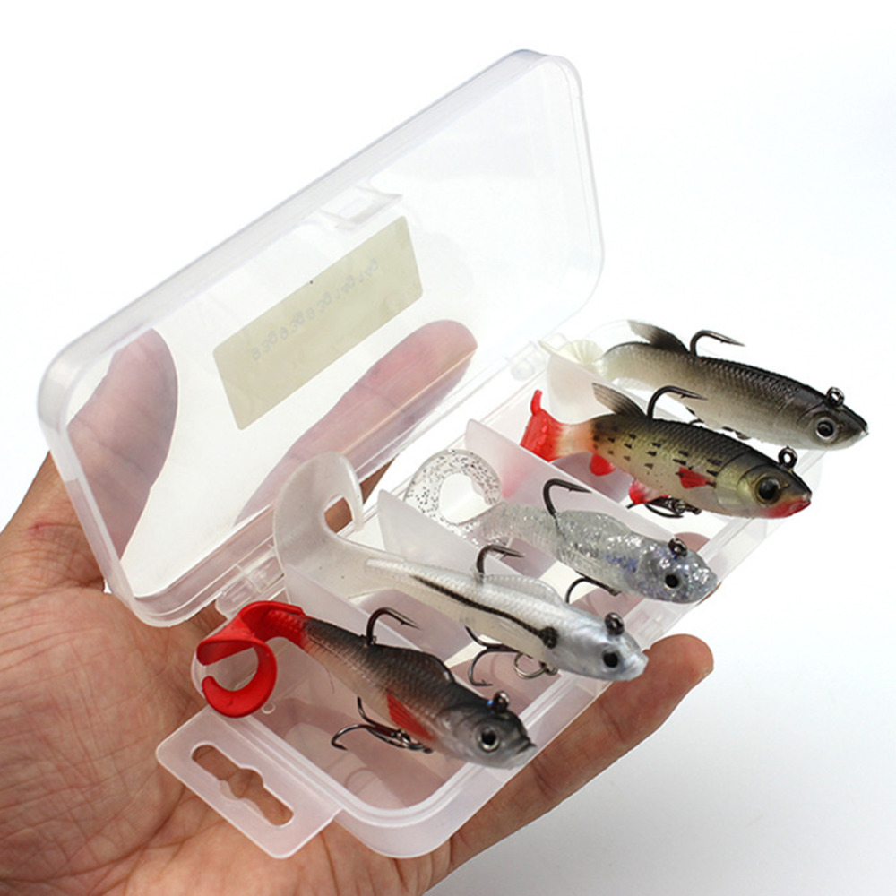5PCS/Lot Soft Lure Kit set 14g/9.3g Wobblers artificial Bait Silicone Fishing Lures Sea Basin Carp Fishing Lead Fish Jig