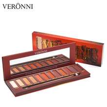 VERONNI Hot Sale Eye Shadow Palette Brand Makeup Molten Rock Heat EyeShadow Nude Matte Smoky Eyeshadow Red Brown