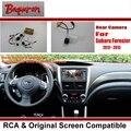 Car Câmara de Visão Traseira/Back Up Câmera Reversa Conjuntos para Subaru Forester 2012 ~ 2015 PR43/RCA & Tela Original compatível