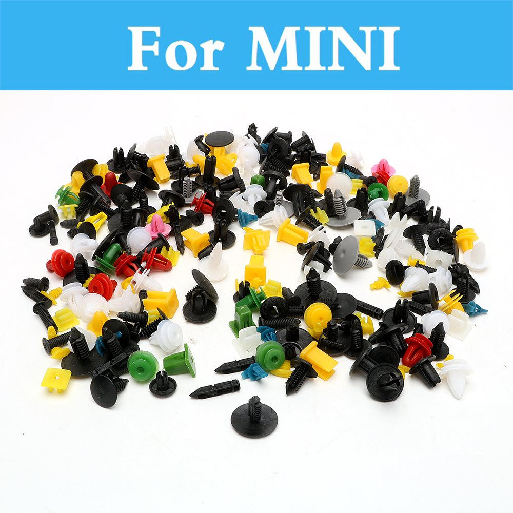200pcs Car Plastic Cable Mount Clamp Clips Auto Wire Tie For Mini Coupe Hatch Paceman Roadster Cabrio Clubman Countryman