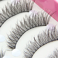 10 пар природных удлиненный ресницы свадебный ну вечеринку макияж накладные ресницы 8LI2