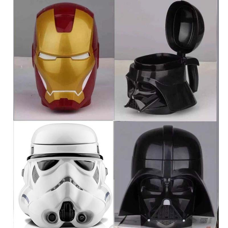 Free shipping  star war white Black Knight iron man water cup coffee mug Creative gift for birthday