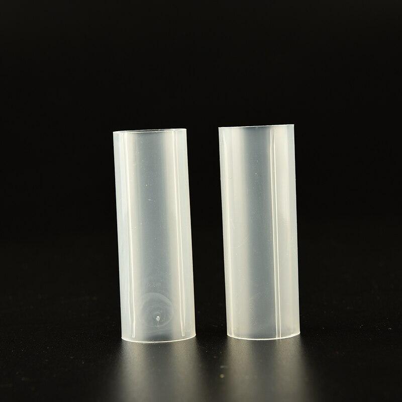 2Pcs Plastic 18650 Battery Tube Holder For Flashlight Torch Lamp Light White 6cm