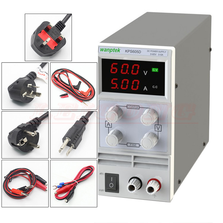 KPS605D 60V 5A DC power supply  Single Channel adjustable SMPS Digital 0.1V 0.01A KPS605DF Display 4 Digits 0.1V 0.001A cps 6011 60v 11a digital adjustable dc power supply laboratory power supply cps6011