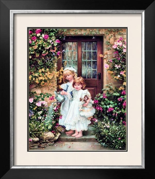 Compra pintura al óleo jardín online al por mayor de ...