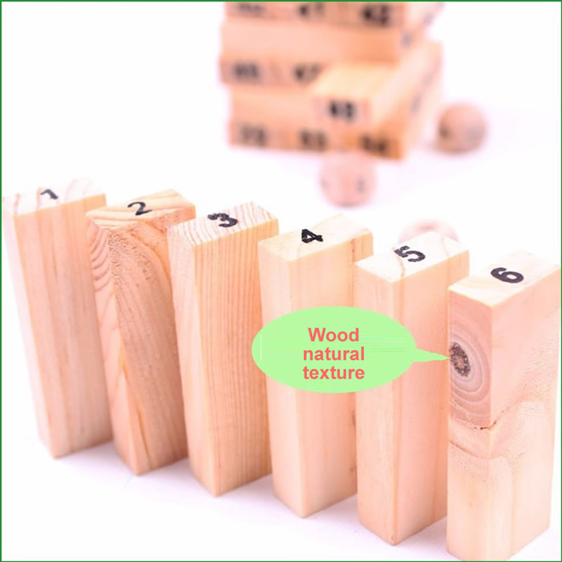 Mini Tumbling Stacking Tower Digital Wooden Puzzles - Ойындар мен басқатырғыштар - фото 3