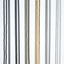 1Pcs 1.5/2.0 mm Gold/Black/Silver Plated Ball Beads Chain DIY Necklace Bead Connector for Cloth Bag Jewelry Accessories