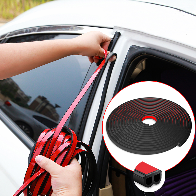Car-styling 1Meter Car Door Seal Strip Stickers Anti-Dust Soundproof Sealing B Type Noise Insulation Auto Interior Accessories