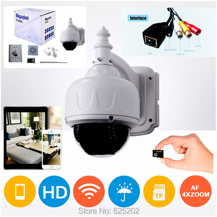 4X Zoom Auto Focus Lens Wifi Camera System Support SD Card Control by font b iphone