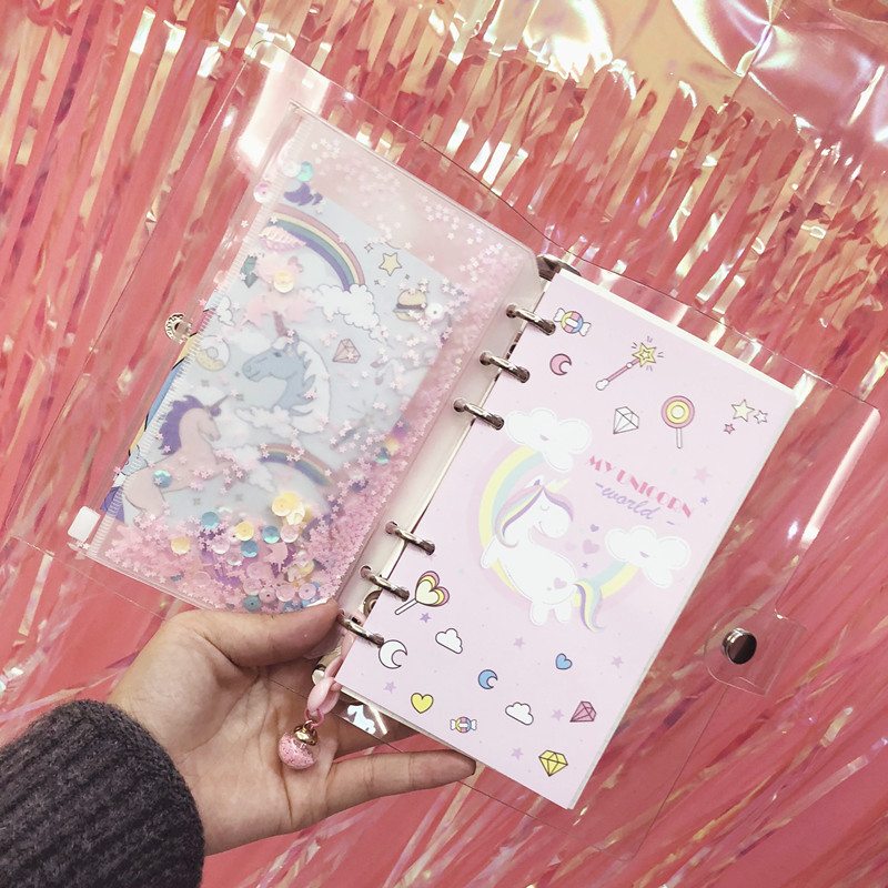 Image 5 - 2019 INS Unicorn Planner Book Suit A6 Spiral Notebook Hand book Students' Supply Office Stationery Learning Gift for Girl-in Notebooks from Office & School Supplies