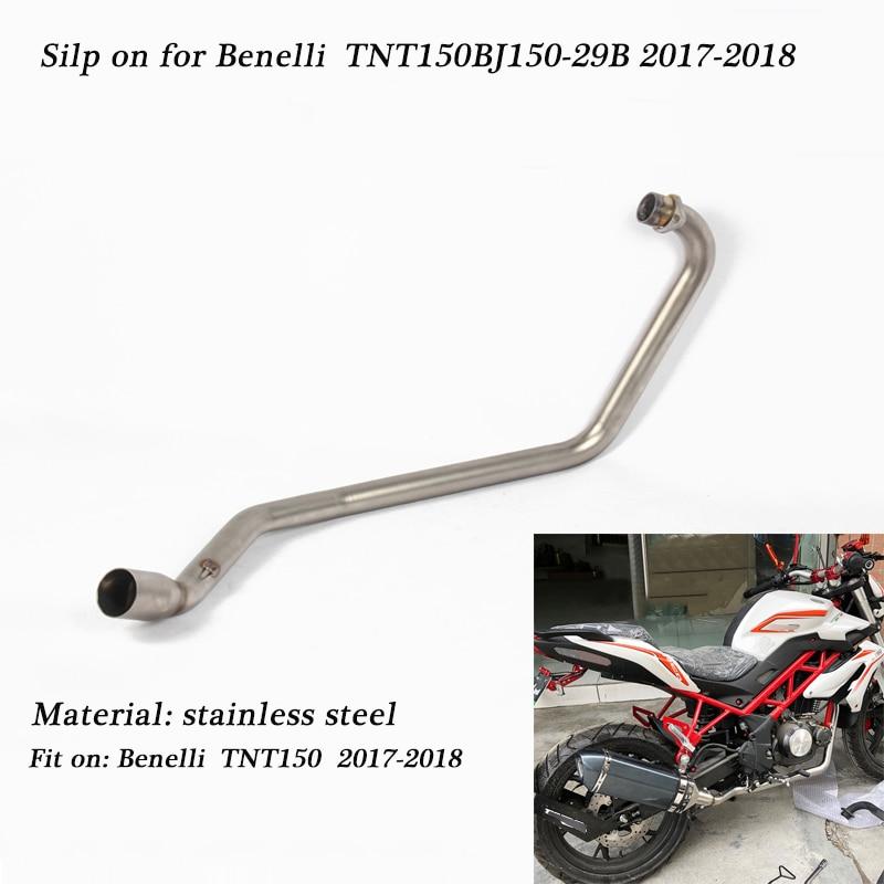 Silp on pour Benelli TNT150 BJ150-29B 2017-2018 moto en acier inoxydable système d'échappement complet reliant le tuyau d'échappement de queue