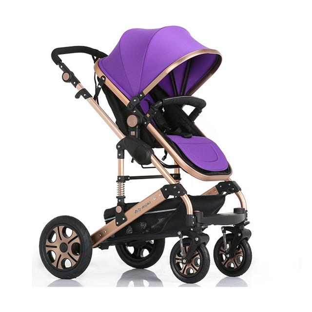 Armazém russo atacado 0-36 meses carrinho de bebê 3 em 1, 5 cores dobrar carrinho de criança, alta paisagem carrinho de bebê cadeira de rodas