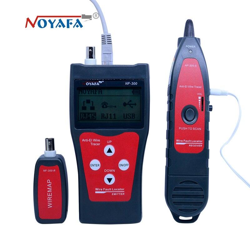 NF_300 l Lan testeur RJ45 LCD câble testeur réseau surveillance fil tracker sans interférence de bruit NOFAYA NF-300 - 2
