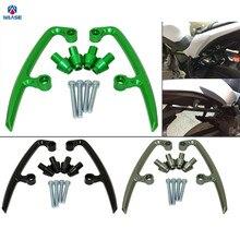 Waase мотоциклетные задние поручни заднего сиденья пассажирские поручни ручка для Kawasaki Ninja 650