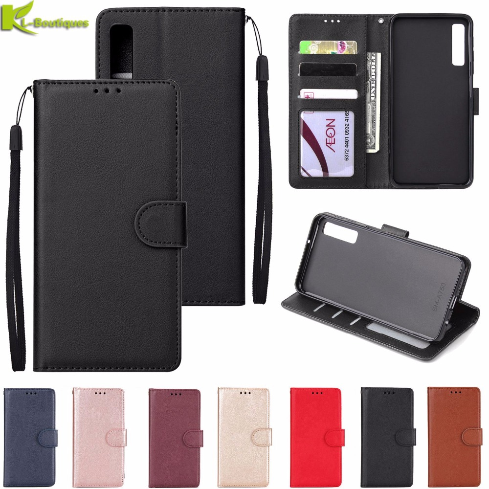 For <font><b>Samsung</b></font> Galaxy A50 Leather Case on for <font><b>Coque</b></font> <font><b>Samsung</b></font> <font><b>A10</b></font> A20 A30 A40 A50 A70 A30S 20E 10 50S Cover Classic Flip Wallet Cases image