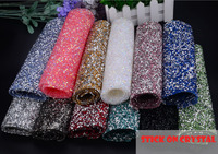 Stick on 24*40cm Crystal Clear Stones colorful Hot Fix Rhinestone Mesh Trimming Aluminium base Pasted Sew-on Net Drill