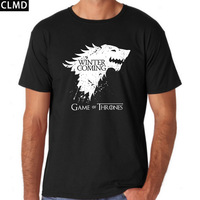 Short Sleeve Game Of Thrones Print Men Tshirt Casual Cotton Winer Is Coming Mens T Shirts