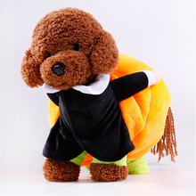 New Pet supplies factory direct Halloween new puppy clothes Move pumpkin funny dog dress(China)